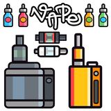 Vape device vector set   Royalty Free Stock Photo
