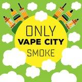 Vape för elektronisk cigarett för logo vaping Arkivbild