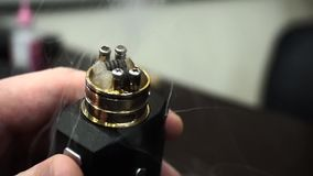 Vape hot steam stock video