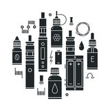 Vape icons set Stock Photography