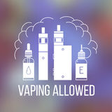 Vape icons set Royalty Free Stock Image
