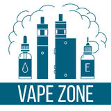 Vape icons set Stock Photo