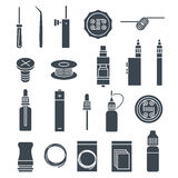 Vape icons set Stock Images