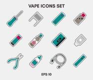 Vape icons set Royalty Free Stock Images