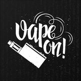 Vape lettering label Stock Photography