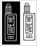 Vape me. logo vape frome vapeshop stock illustration