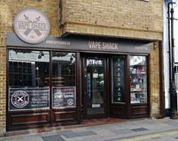 Vape Shack Shop in Church Street Twickenham Greater London Uk. A vape shop selling electronic cigarettes and e liquids in twickenham,vaping is used for people stock photo