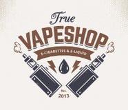 Vape-Shop-Emblem Lizenzfreie Stockfotografie