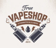 Vape Shop Emblem Royalty Free Stock Photography