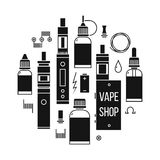 Vape shop icons Stock Photo