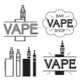 Vape shop logo. Vape shop and bar. Dark logo  on white background Royalty Free Stock Photos