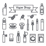 Vape shoppar symboler Royaltyfri Bild