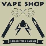 Vape sklepu logotyp Vape papierosu logo r?wnie? zwr?ci? corel ilustracji wektora royalty ilustracja