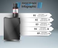Vape, vaper, καπνός - επιχείρηση infographic απεικόνιση αποθεμάτων