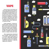 Vape zone Internet shop promotional poster with modern devices for smoking Royalty Free Stock Photography