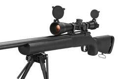 Vapen för gevärprickskyttsvart, slutsikt Royaltyfri Foto