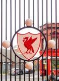 Vapen för Liverpool fotbollklubba, Liverpool, UK Royaltyfri Fotografi