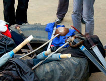 Vapen för sportfäktning Royaltyfria Bilder