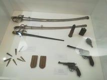 Vapen från WWI-museumexibit royaltyfri foto