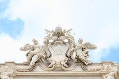 Vapen på Fontana di Trevi Fotografering för Bildbyråer