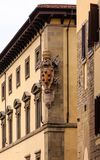 Vapen på gammal byggnad i Florence Royaltyfri Fotografi