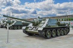 """Vapen SU†""""85 för mm för sovjet 85 självgående Royaltyfri Fotografi"""