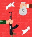 Vapenhandel Arkivbilder