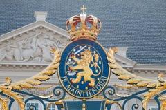 Vapensköld av kungariket av Nederländerna Arkivbilder