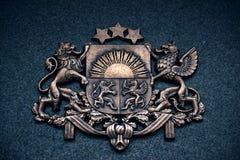 Vapensköld av Lettland arkivfoton
