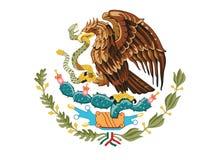 Vapensköld av Mexico Royaltyfri Bild