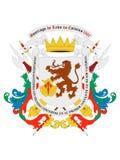 Vapensköld av staden av Caracas royaltyfri illustrationer