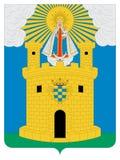 Vapensköld av staden av Medellin royaltyfri illustrationer