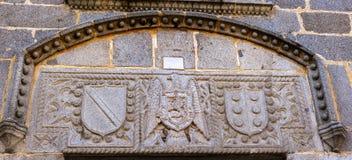Vapensköld Franco Castile Symbols Avila Spain Royaltyfri Bild