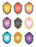 vapensköldar royaltyfri illustrationer