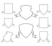 Vapensköldar för vapenskölduppsättning Vektor Illustrationer