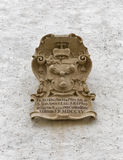 Vapensköldcloseup i fästningen Hohensalzburg Österrike salzburg Fotografering för Bildbyråer