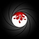 Vapentrumma inom med blod vektor Royaltyfri Foto