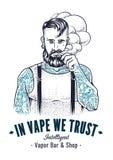 Vaper Hipster Art Stock Image