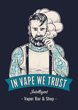 Vaper Hipster Art Stock Photography