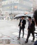 Vapeur de la rue au fond dans NYC images libres de droits