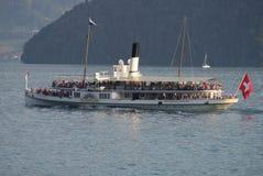 Vapeur de palette d'Unterwalden Photos libres de droits