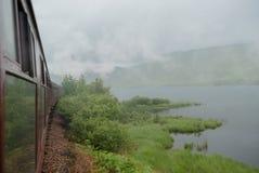 Vapeur du train en Ecosse Photographie stock libre de droits