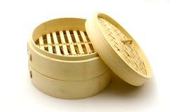 Vapeur en bambou Photographie stock