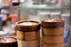 Vapeur en bambou image libre de droits