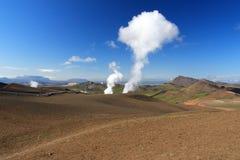 Vapeur géothermique Photos libres de droits