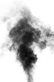 Vapeur noire ressemblant à la fumée sur le fond blanc Images stock