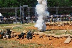 Vapeur sur le champ de bataille Image libre de droits