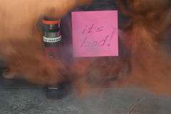 Vaping с дымом и паром Стоковое фото RF