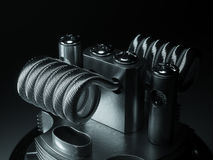 Vaping atomizer with clapton coil. 3d rendering Stock Photography
