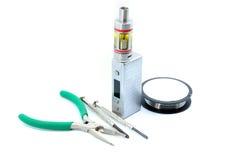 Vaping Atomizer tools. Rebuildable Dripping Vaping Atomizer tools, close up stock images